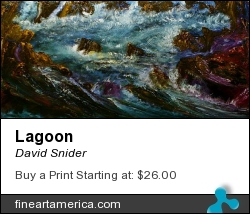 Lagoon by David Snider - Painting - Oil On Canvas