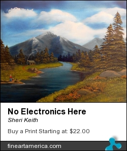 No Electronics Here by Sheri Keith - Painting - Oil On Canvas