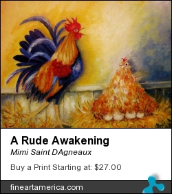 A Rude Awakening by Mimi Saint DAgneaux - Painting - Oil On Canvas