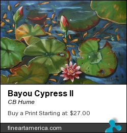 Bayou Cypress II by CB Hume - Painting - Oil On Canvas