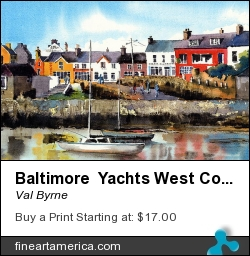 Baltimore Yachts West Cork by Val Byrne - Painting - Watercolour