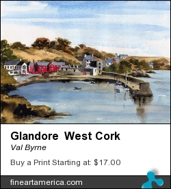 Glandore West Cork by Val Byrne - Painting - Watercolour