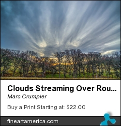 Clouds Streaming Over Round Valley by Marc Crumpler - Photograph