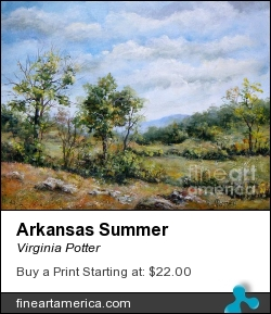 Arkansas Summer by Virginia Potter - Painting - Acrylic On Canvas