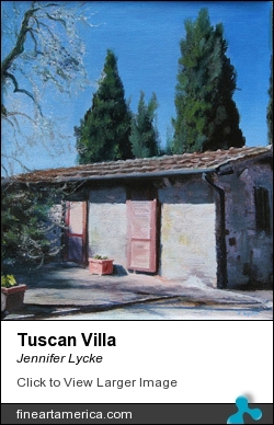 Tuscan Villa by Jennifer Lycke - Painting - Oil On Canvas
