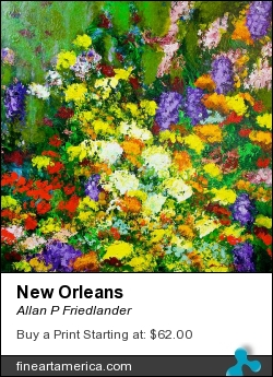 New Orleans by Allan P Friedlander - Painting - Acrylic On Gallery Wrapped Canvas