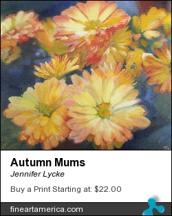 Autumn Mums by Jennifer Lycke - Painting - Oil On Canvas