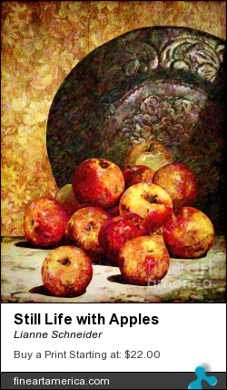 Still Life With Apples by Lianne Schneider - Digital Art - Digital Painting/photographic Art