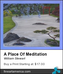 A Place Of Meditation by William Stewart - Painting - Acrylic