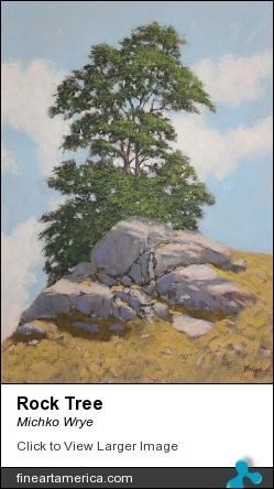 Rock Tree by Michko Wrye - Painting - Acrylic On Panel