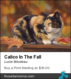 Calico In The Fall by Lucie Bilodeau - Painting - Oil On Canvas