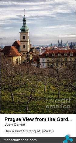 Prague View From The Gardens by Joan Carroll - Photograph - Digital Photograph