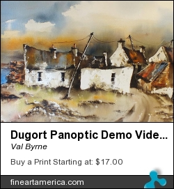 Dugort Panoptic Demo Video by Val Byrne - Painting - Watercolour