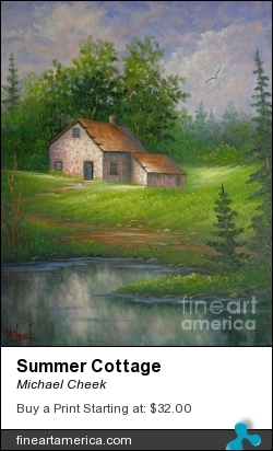 Summer Cottage by Michael Cheek - Painting - Oil On Canvas