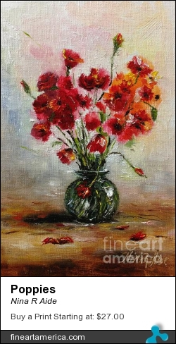 Poppies by Nina R Aide - Painting - Oil On Canvas