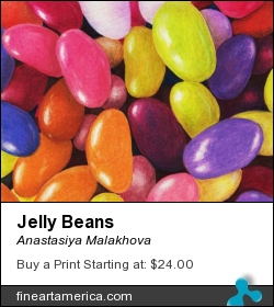 Jelly Beans by Anastasiya Malakhova - colored pencils on paper