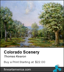 Colorado Scenery by Thomas Kearon - Painting - Oil On Linen