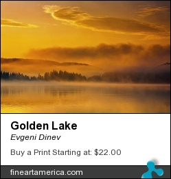 Golden Lake by Evgeni Dinev - Photograph