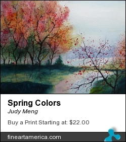 Spring Colors by Judy Meng - Painting - Watercolor