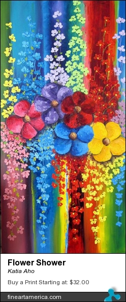 Flower Shower by Katia Aho - Painting - Oil On Canvas