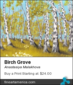 Birch Grove by Anastasiya Malakhova - pastels on paper