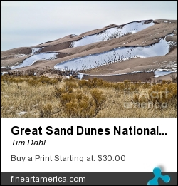 Great Sand Dunes National Park by Tim Dahl - Photograph