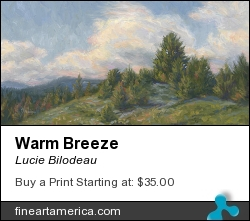 Warm Breeze by Lucie Bilodeau - Painting - Oil On Canvas Panel