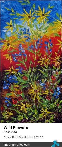 Wild Flowers by Katia Aho - Painting - Oil On Canvas