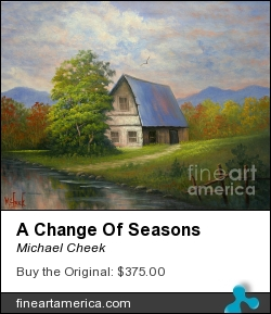 A Change Of Seasons by Michael Cheek - Painting - Oil On Canvas