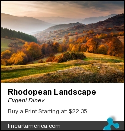 Rhodopean Landscape by Evgeni Dinev - Photograph