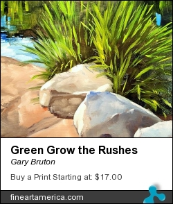 Green Grow The Rushes by Gary Bruton - Painting