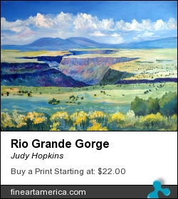 Rio Grande Gorge by Judy Hopkins - Painting - Acrylic On Canvas