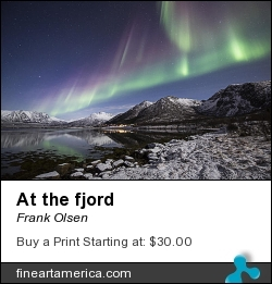 At The Fjord by Frank Olsen - Photograph - Photo
