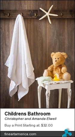 Childrens Bathroom by Christopher and Amanda Elwell - Photograph - Photograph