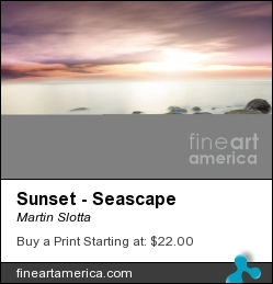 Sunset - Seascape by Martin Slotta - Photograph