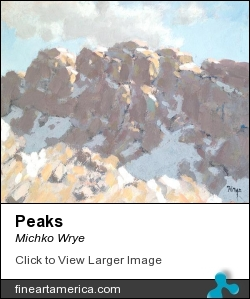 Peaks by Michko Wrye - Painting - Acrylic On Canvas
