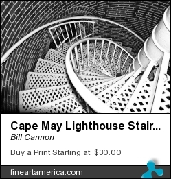 Cape May Lighthouse Stairs by Bill Cannon - Photograph - Photo