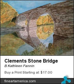 Clements Stone Bridge by B Kathleen Fannin - Painting