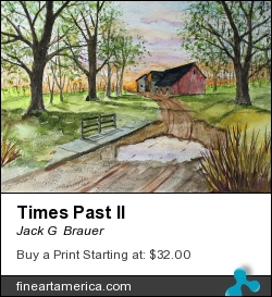 Times Past II by Jack G  Brauer - Painting - Watercolor