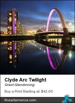Clyde Arc Twilight by Grant Glendinning - Photograph - Photograph
