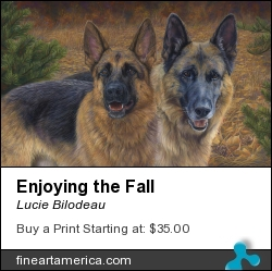 Enjoying The Fall by Lucie Bilodeau - Painting - Oil On Canvas