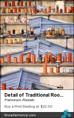 Detail Of Traditional Rooftops In Paris by Francesco Rizzato - Photograph - Photographs