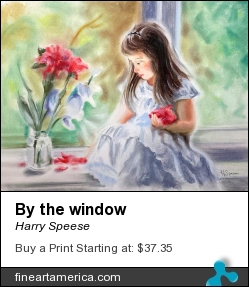 By The Window by Harry Speese - Painting - Pastel On Canson Paper