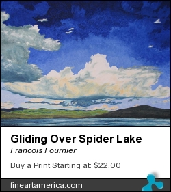 Gliding Over Spider Lake by Francois Fournier - Painting - Oil Painting