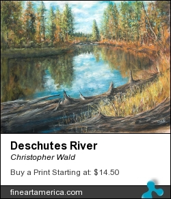 Deschutes River by Christopher Wald - Pastel - Pastel On Paper