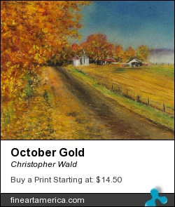 October Gold by Christopher Wald - Pastel - Pastel On Paper