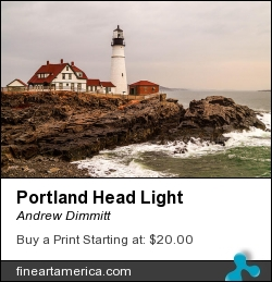 Portland Head Light by Andrew Dimmitt - Photograph