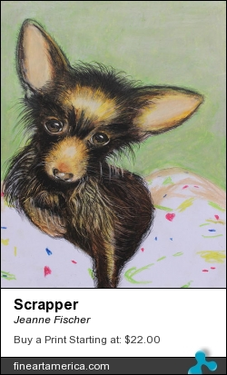 Scrapper by Jeanne Fischer - Painting