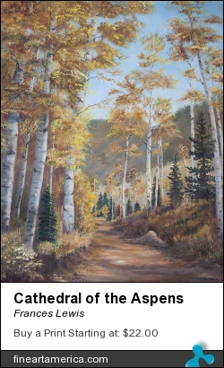 Cathedral Of The Aspens by Frances Lewis - Painting - Oil On Canvas