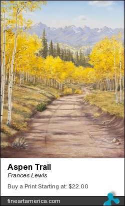 Aspen Trail by Frances Lewis - Painting - Oil On Canvas